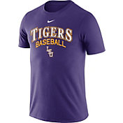 Nike Men's LSU Tigers Purple Team Issue Baseball T-Shirt