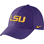 Nike Men's LSU Tigers Purple Dri-FIT Wool Swoosh Flex Hat