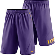 Nike Men's LSU Tigers Purple Fly XL 5.0 Football Sideline Shorts