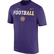Nike Men's LSU Tigers Purple FootbALL Sideline Legend T-Shirt