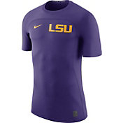Nike Men's LSU Tigers Purple Nike Pro Hypercool Fitted Football T-Shirt