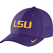 Nike Men's LSU Tigers Purple Vapor Sideline Swoosh Flex Hat