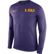 Nike Men's LSU Tigers Purple Football Sideline KO Fleece Crew