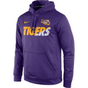 Nike Men's LSU Tigers Purple Sideline KO Fleece Performance Hoodie