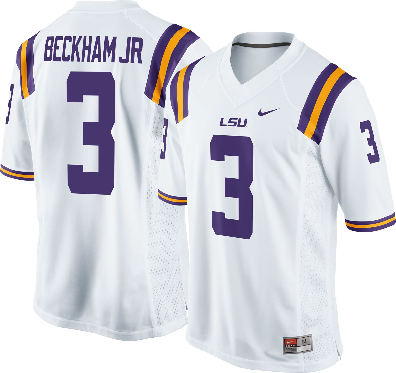 ... Jersey Product Image · Nike Mens Odell Beckham Jr. LSU Tigers White 3  Replica College Alumni ...