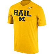 Nike Men's Michigan Wolverines Maize 'Hail' Authentic Local Legend T-Shirt