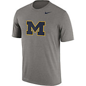 Nike Men's Michgian Wolverines Grey Logo Legend T-Shirt