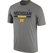 Jordan Men's Michigan Wolverines Grey Football Staff Legend T-Shirt