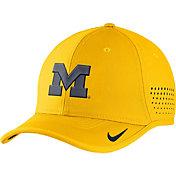 Nike Men's Michigan Wolverines Maize Vapor Sideline Coaches Hat
