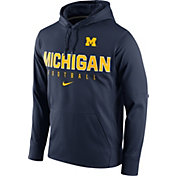 Nike Men's Michigan Wolverines Blue Circuit Performance Football Hoodie