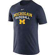 Nike Men's Michigan Wolverines Blue Team Issue Baseball T-Shirt