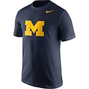 Nike Men's Michigan Wolverines Blue Logo T-Shirt