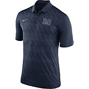 Nike Men's Michigan Wolverines Blue Dry Stadium Polo