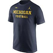Jordan Men's Michigan Wolverines Blue Football Sideline Facility T-Shirt