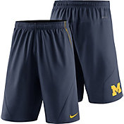 Nike Men's Michigan Wolverines Blue Fly XL 5.0 Football Sideline Shorts