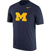 Nike Men's Michigan Wolverines Blue Logo Legend T-Shirt