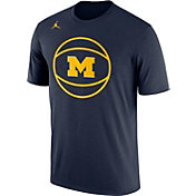 Jordan Men's Michigan Wolverines Blue Basketball Legend T-Shirt