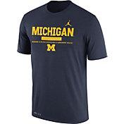 Jordan Men's Michigan Wolverines Blue Football Staff Legend T-Shirt