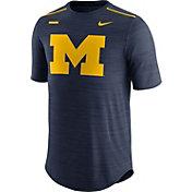 Jordan Men's Michigan Wolverines Blue Football Player T-Shirt