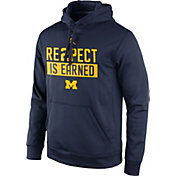 Jordan Men's Michigan Wolverines Blue 'RE2PECT is Earned' Hoodie