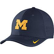 Nike Men's Michigan Wolverines Blue Vapor Sideline Coaches Hat