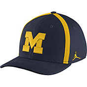 Jordan Men's Michigan Wolverines Blue Aerobill Swoosh Flex Classic99 Football Sideline Hat