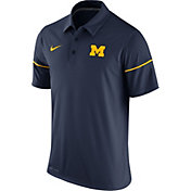Nike Men's Michigan Wolverines Blue Team Issue Performance Polo