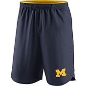 Nike Men's Michigan Wolverines Blue Vapor Football Performance Shorts