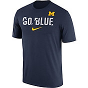 Nike Men's Michigan Wolverines Blue Ignite Verbiage Legend T-Shirt