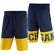 Jordan Men's Michigan Wolverines Blue/Maize Blockout Modern Heritage Shorts