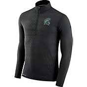 Nike Men's Michigan State Spartans Black Element Quarter-Zip Shirt