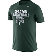 Nike Men's Michigan State Spartans Green Basketball Team T-Shirt