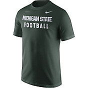Nike Men's Michigan State Spartans Green Football Sideline Facility T-Shirt