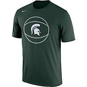 Nike Men's Michigan State Spartans Green Basketball Legend T-Shirt