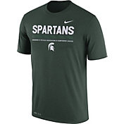 Nike Men's Michigan State Spartans Green Football Staff Legend T-Shirt