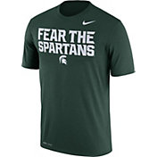 Nike Men's Michigan State Spartans Green 'Fear the Spartans' Authentic Local Legend T-Shirt