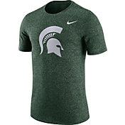 Nike Men's Michigan State Spartans Green Marled Logo T-Shirt