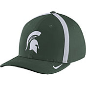 Nike Men's Michigan State Spartans Green Aerobill Swoosh Flex Classic99 Football Sideline Hat