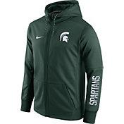 Nike Men's Michigan State Spartans Green Circuit Full-Zip Hoodie
