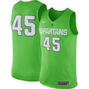 Nike Men's Michigan State Spartans #45 Mean Green Authentic Hyper ELITE Basketball Jersey