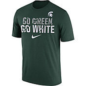 Nike Men's Michigan State Spartans Green Ignite Verbiage Legend T-Shirt