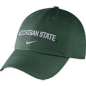 Nike Men's Michigan State Spartans Green Heritage86 Wordmark Swoosh Flex Hat