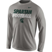 Nike Men's Michigan State Spartans Grey Football Legend Long Sleeve T-Shirt