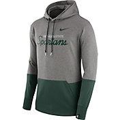 Nike Men's Michigan State Spartans Grey/Green Therma Hoodie
