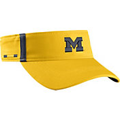 Jordan Men's Michigan Wolverines Maize Aerobill Football Sideline Visor