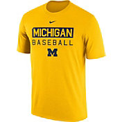 Nike Men's Michigan Wolverines Maize Team Issue Legend Baseball T-Shirt