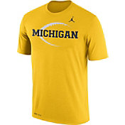 Jordan Men's Michigan Wolverines Maize Football Icon Legend T-Shirt