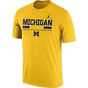 Jordan Men's Michigan Wolverines Maize Football Staff Legend T-Shirt