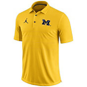 Jordan Men's Michigan Wolverines Maize Early Season Football Polo