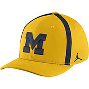 Jordan Men's Michigan Wolverines Maize Aerobill Swoosh Flex Classic99 Football Sideline Hat